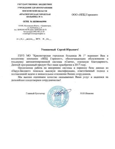 Красногорская городская больница №1